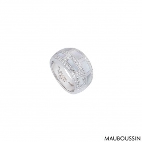 Mauboussin White Gold Le Vice Et La Verta Ring